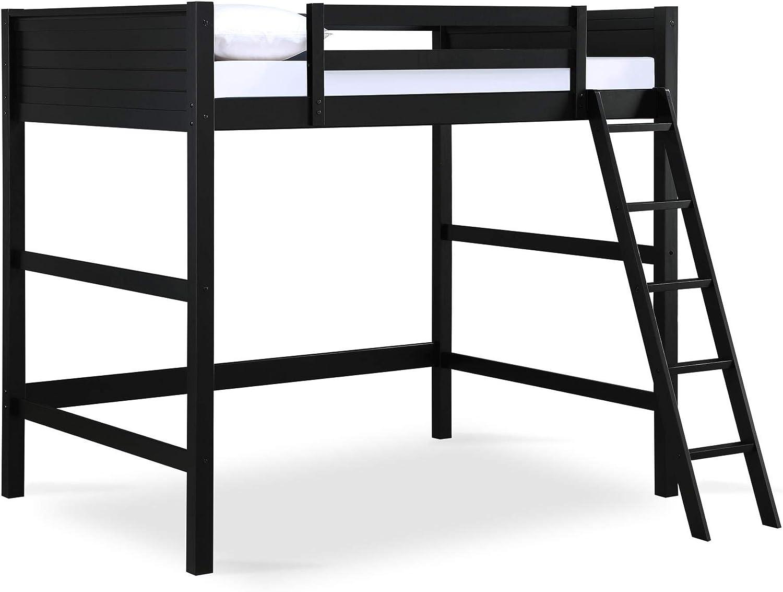 Dorel Living Denver Full Size Loft, Black bed