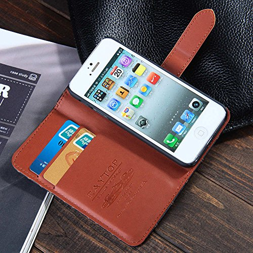 RAYTOP® Apple iPhone SE/5/5S Case Wallet Leather Cover 2 ... | 500 x 500 jpeg 92kB