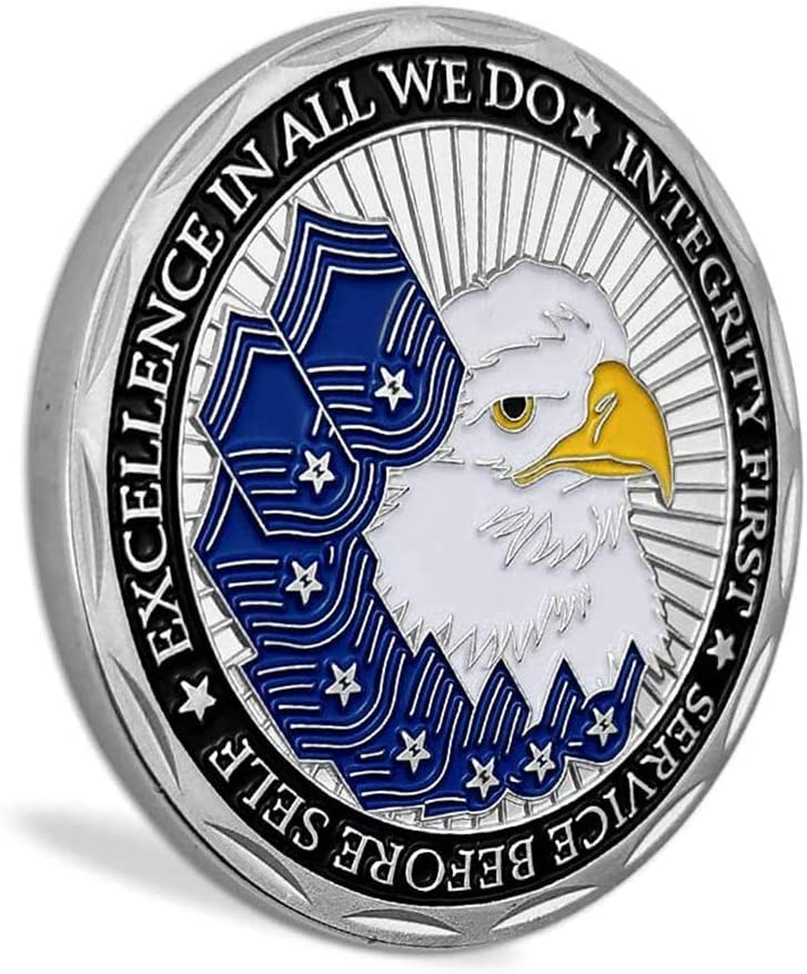 United States Air Force Airmans Creed Military Challenge Coin Collectible Veteran Gift