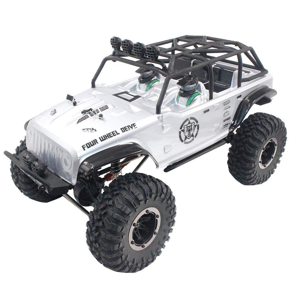 1073-SJ RC Auto Scala 1 10 Veicolo Fuoristrada ad Alta Velocità 2.4Ghz 4WD Motore Spazzolato RTR Impermeabile argentoo