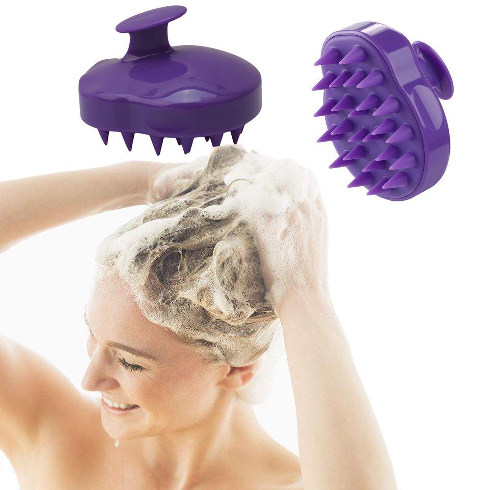Hair Scalp Massager Shampoo Brush, Scalp Care Brush,Body Washing Silicone Soft Manual Comb for Women, Men & Kids and Pet Grooming Shedding Massage Bath Brush Humars