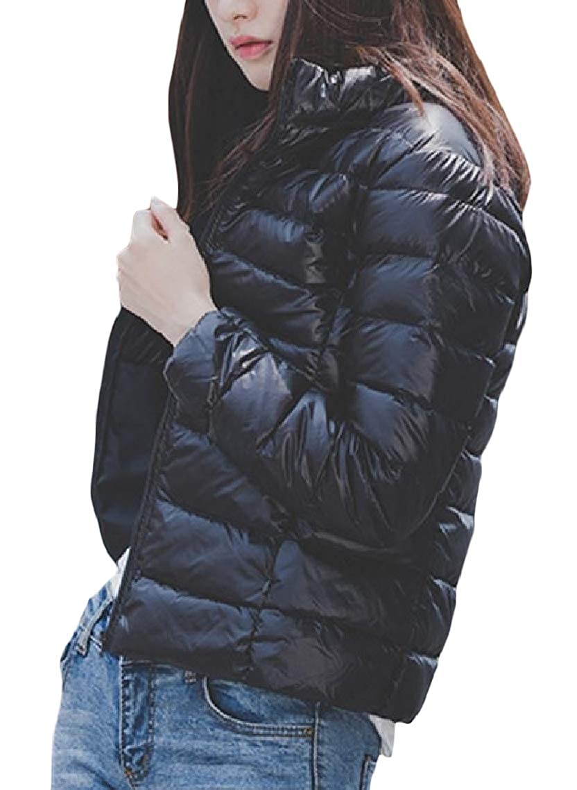 Godeyes Womens Solid Color Short Mini Skinny Over Sized Light Weight Duffle Coat