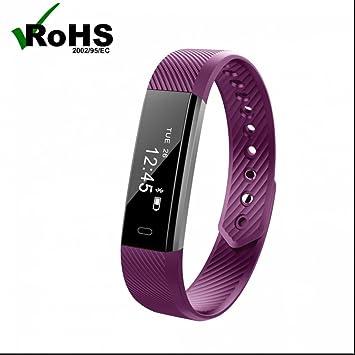 Reloj de pulsera inteligente con Pódometro,Notificación de mensajes como whatsapp/Facebook,Pulseras