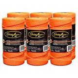 Stringliner Mason Line Replacement Roll Contractor Pack 1,000' - Orange (Pack of 6) - SL35759CPK