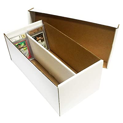 (4) Graded Shoe 2-Row Cardboard Storage Boxes - Baseball, Football, Basketball, Hockey, Nascar, Sportscards, Gaming & Trading Cards Collecting Supplies by MAX PRO - GSB: Toys & Games