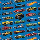 Amscan 231551 Fast Riding Hot Wheels Wild Racer Birthday Party Gift Wrap, Multicolor, 8' x 30