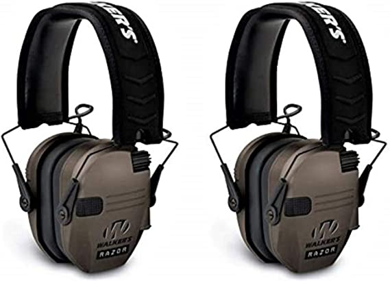 Walkers Razor Slim Shooting Ear Protection Muff 23db Gray GWP-RSEMPAT-GY-K