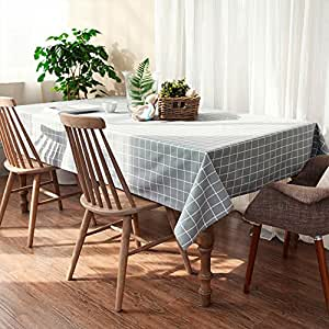 hlyoon PVC rectangular Mantel 140x 220cm, vinilo funda para mesa aceite/impermeable antimanchas para cualquier fiesta o evento