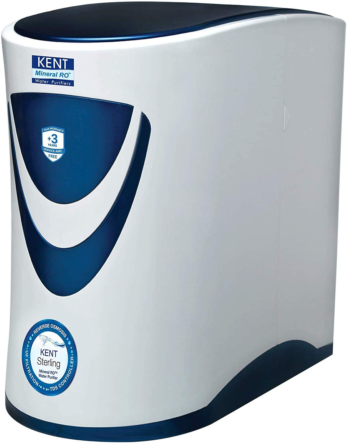 Kent Sterling 6-Litres Under the counter RO+UF+TDS Controller (White and...