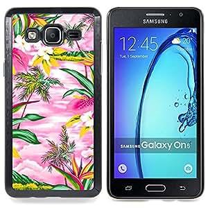Stuss Case / Funda Carcasa protectora - Acuarela rosada Hawaii Palmeras Island - Samsung Galaxy On5 O5