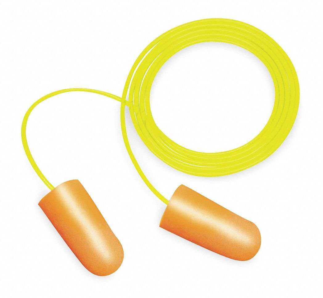 Ear Plugs, Cord, NRR 32, Asrtd Color, PK 100 by 3M   B0078S8SO2