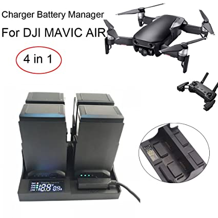 Amazon.com: Cargador de batería para Mavic Air, 4 en 1 ...
