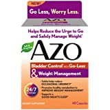 AZO Bladder Control with Go-Less & Weight Management – Safely Helps Reduce Occasional Urgency* – Promotes Healthy Metabolism* – Supports a Good Night's Sleep* – 48 Capsules