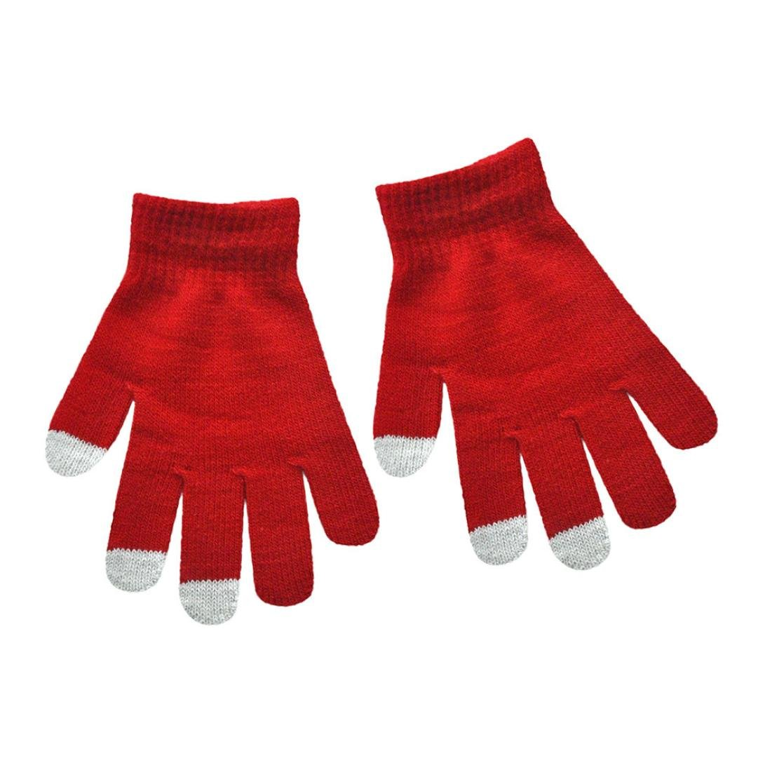 Minshao Infant Baby Girls Boys Cute Print Winter Warm Gloves For 6-12 Years old