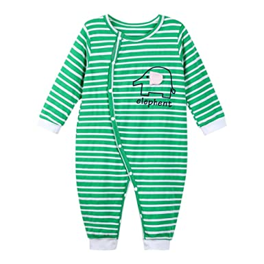 2538e01fd1c2 Chinatera Baby Boy s Romper Cotton Stripe Jumpsuit with Long Sleeve ...