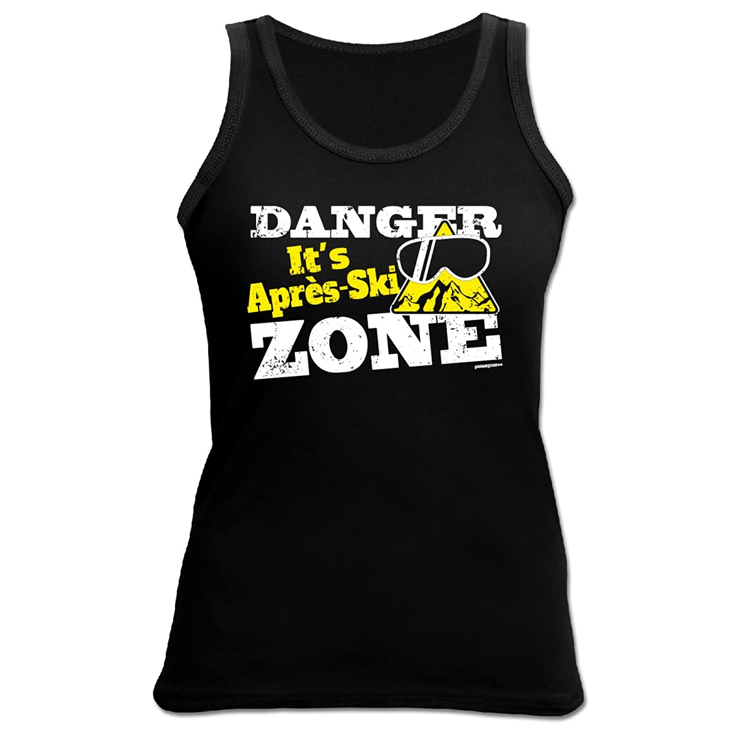 Cooles Damen Top für den Winter - Wintersport - Tank Top für Skihasen : Danger it´s Apres - Ski Zone -- Goodman Design