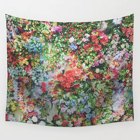 Floral Tapestry Wall Hanging Decoration LivebyCare Beach Towel Lightweight Polyester Fabric Decorative Wall Tapestries Decor Art for Drawing Room Bedroom Dinning - Floral Tapestry