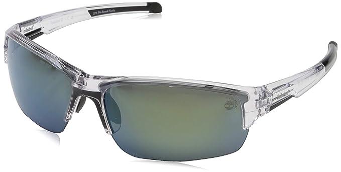 Timberland TB9173 Gafas de sol, Transparente (Crystal/Smoke Polarized), 70.0 para Hombre