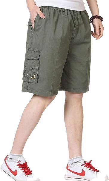 mens cargo shorts elastic waist