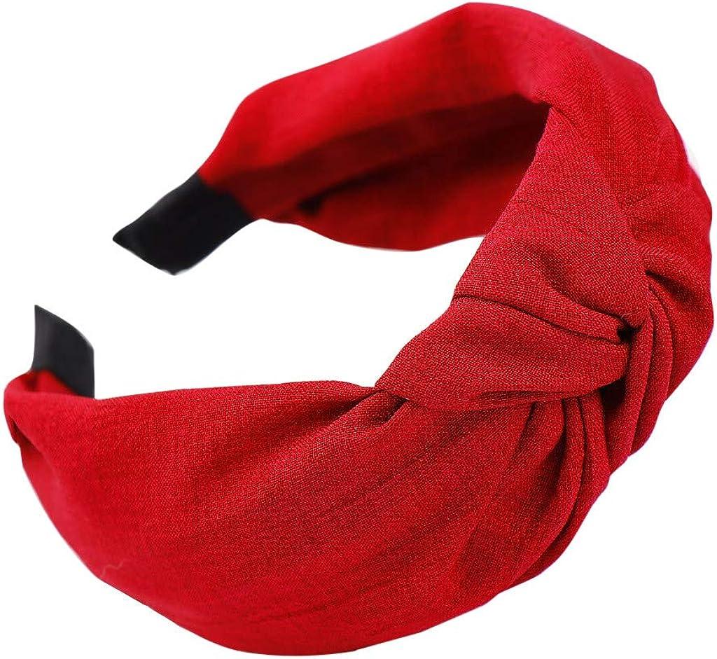 Anmain Fascia Capelli Donna Accessori Moda Fiocco Un Fasce Elastiche Per Ragazza Fashion Bow Knot Hairband Women Hair Head Hoop Semplice Dolce Ragazze Capelli Fascia