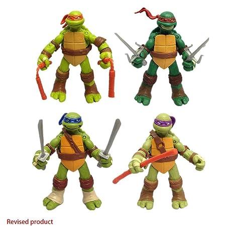 Yang baby Paquete De 4 Juguetes De Tortuga Ninja Mutante ...