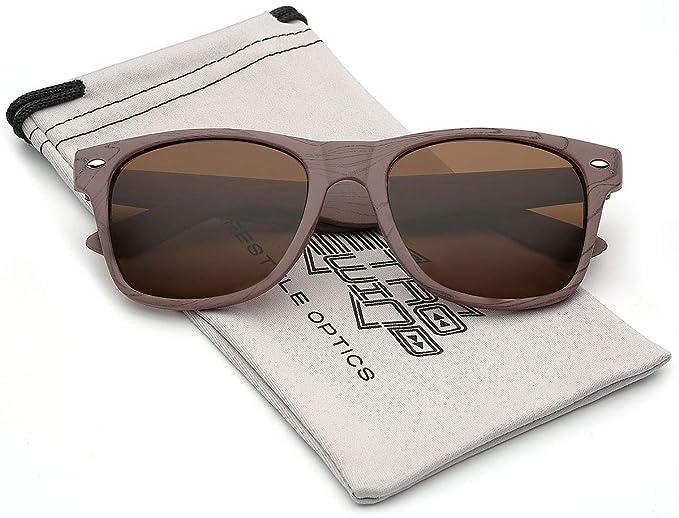 Amazon.com: Rosa Madera Marco anteojos de sol de impresión ...