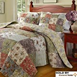 Oversized King Comforters 120x120 Floral Patchwork Quilt & Bedding Set on Sale, 100% Cotton, Oversized King