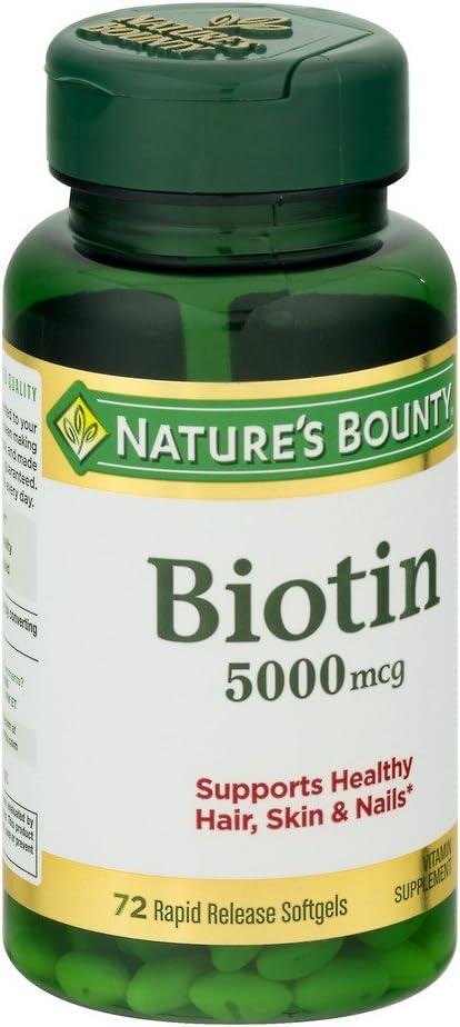 Nature's Bounty Biotin 5000 mcg Liquid Softgels 72 ea (Pack of 3)