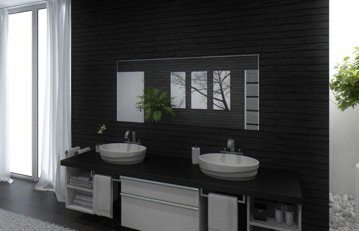 Badspiegel Mit Beleuchtung Santa Rosa M220L3: Design Spiegel Für Badezimmer,  Beleuchtet Mit LED Licht, Modern   Kosmetik Spiegel Toiletten Spiegel Bad  ...
