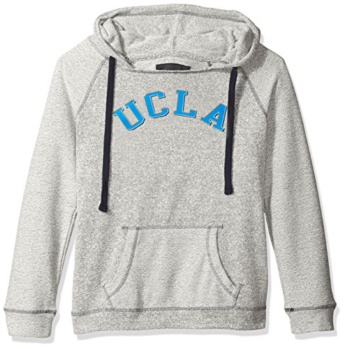 NCAA UCLA Bruins Women's Reverse Sleeve and Pocket Hoodie, Small, Pepper/Navy (Ucla Drawstring Bruins Ncaa)