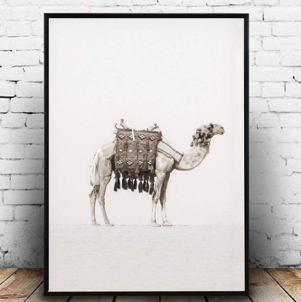 Póster Lienzo Aqaaq Marruecos Puerta Camello Desierto Palma De Coco Arte De Pared Lienzo Pintura Nórdica Carteles E Impresiones Cuadros De Pared Para Decoración De Sala De Estar Sin Marco