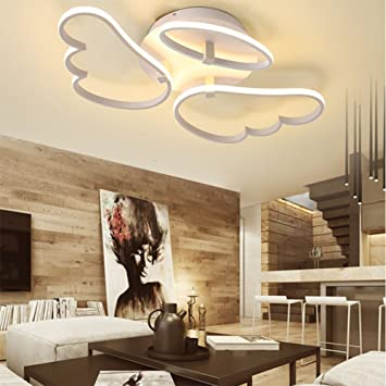 Zzatt Kinder Schlafzimmer LED Deckenleuchte Drei Farben Modern Kreativität  Karikatur Engel Deckenlampe Metall Acryl Lampenschirm Augenschutz
