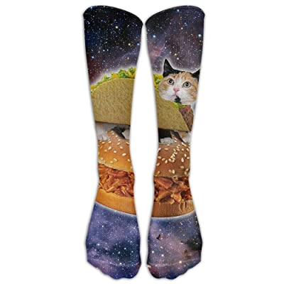High Boots Crew Taco Cat Space Compression Socks Comfortable Long Dress For Men Women