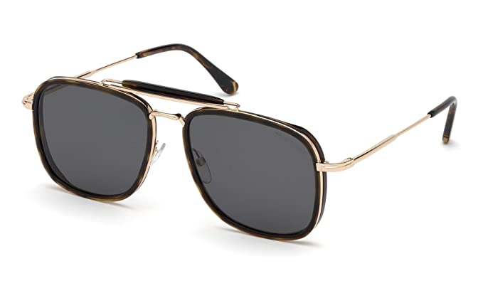 db85c871a5 Tom Ford Gafas de Sol HUCK FT 0665 DARK HAVANA/GREY hombre: Amazon.es: Ropa  y accesorios