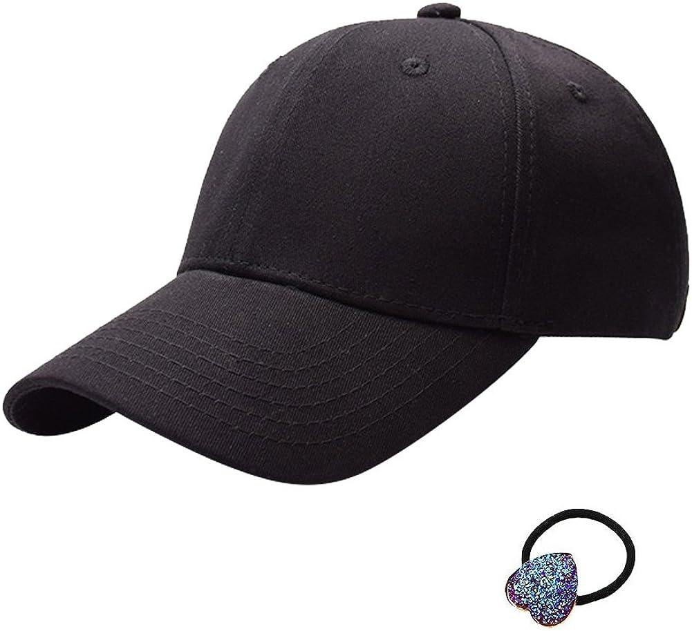 BUYITNOW Women Girls Adjustable Ponytai Hat Outdoor Block Sunlight Baseball Cap After Opening Cap