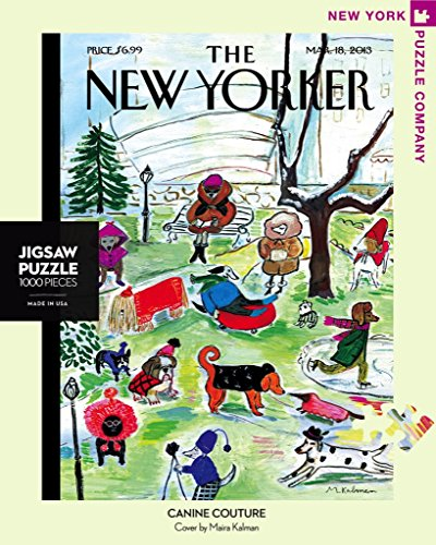 New York Puzzle Company - New Yorker Canine Couture - 1000 Piece Jigsaw Puzzle