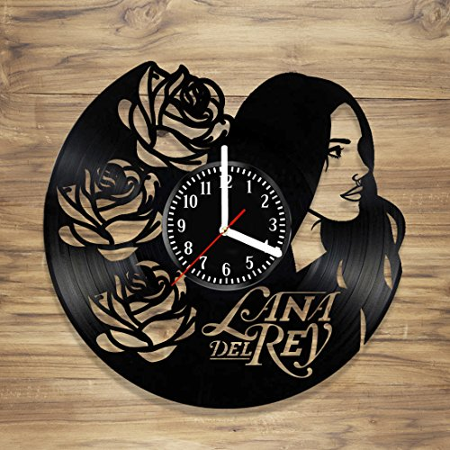 Lana Del Rey Vinyl Wall Clock Music Singer Tragic Romance Artist Perfect Art Decorate Home Style UNIQUE GIFT idea for Him Her (12 inches)