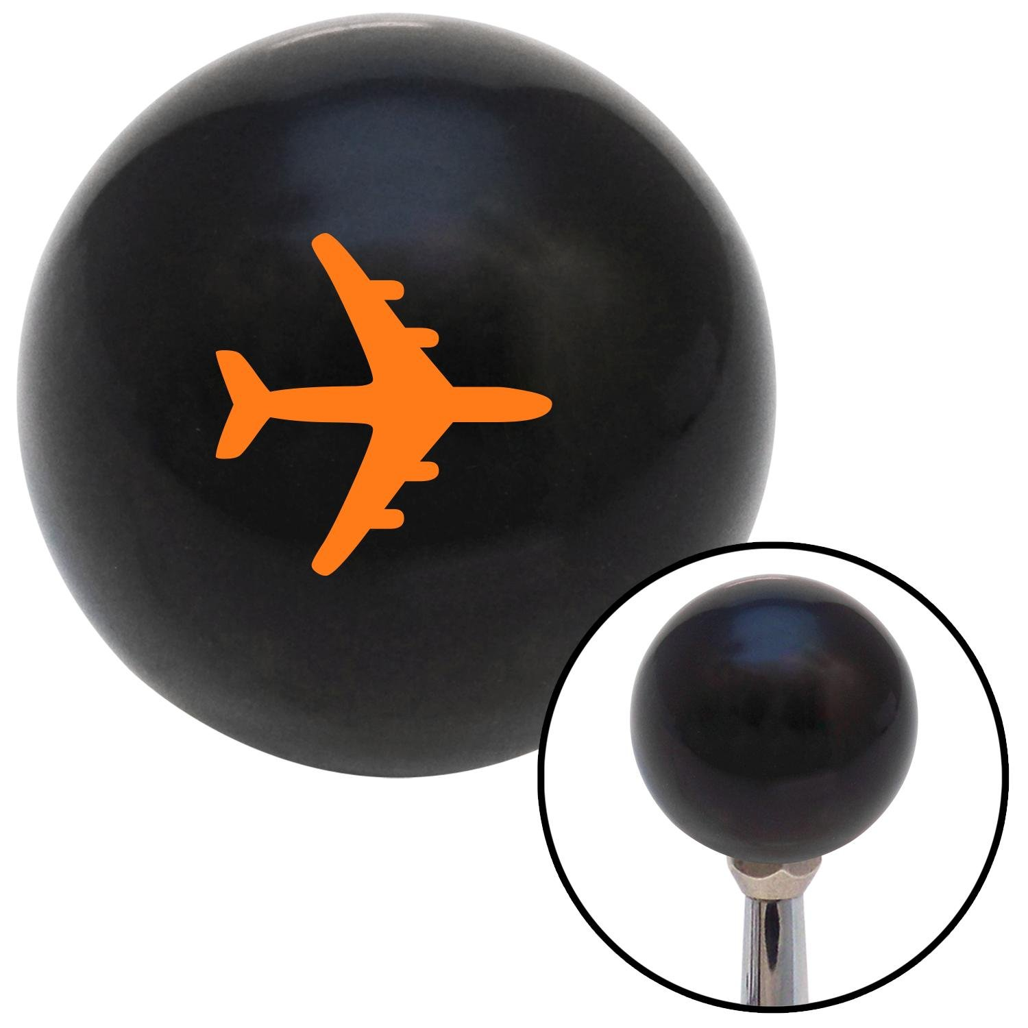 Orange Commercial Airplane American Shifter 110743 Black Shift Knob with M16 x 1.5 Insert