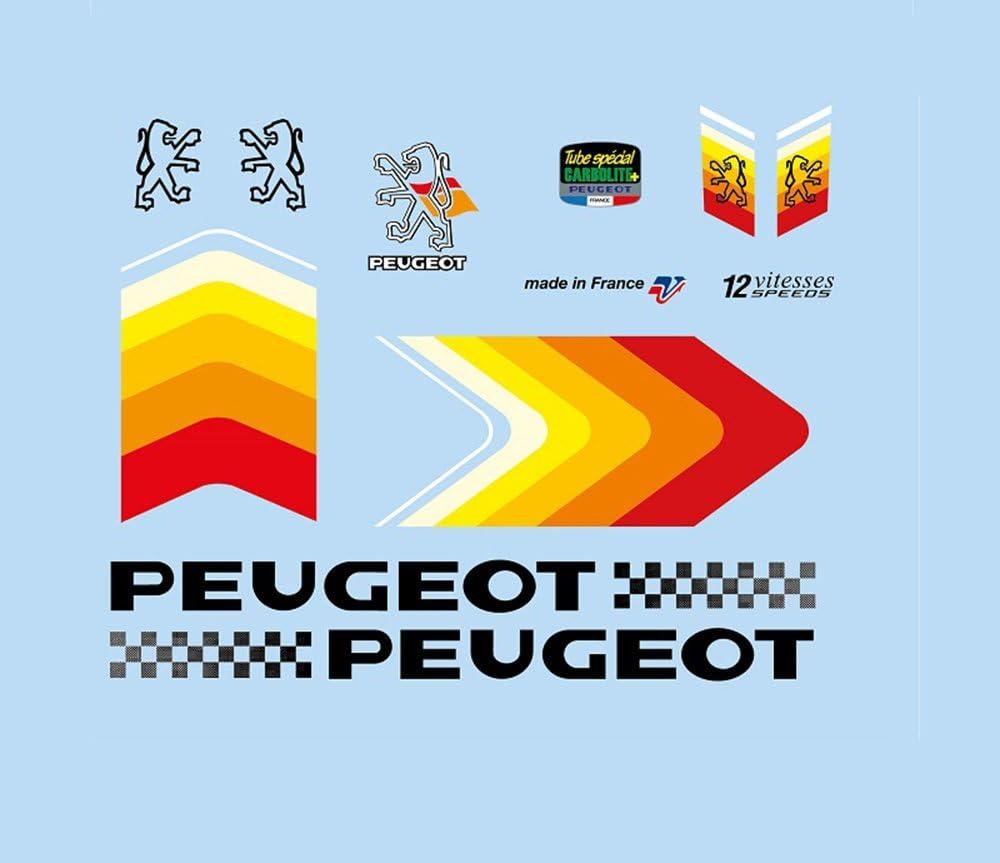 Peugeot 1980s/vinilos para bicicleta de carreras en miniatura y ...