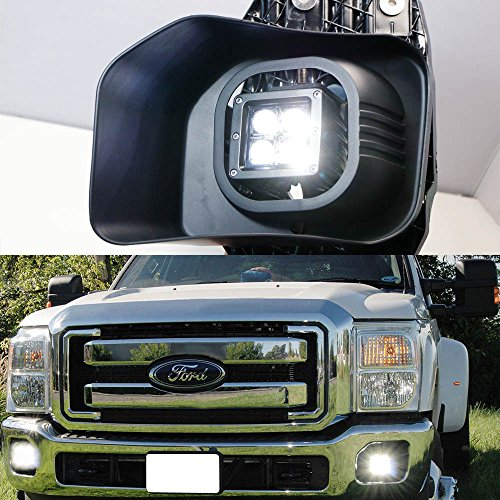 iJDMTOY Complete 40W High Power CREE LED Fog Light Kit w/ Fog Lamp Location Mounting Brackets For 1999-2016 Ford F-250 F-350 F-450 Super Duty by iJDMTOY (Image #4)
