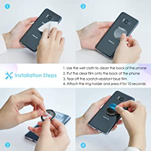 Finger Ring Stand, Lamicall Cell Phone Holder : Universal Phone Ring Cradle Kickstand Compatible with Phone Xs Max XR X 8 7 6 6s Plus 5s, Samsung Galaxy S8 S7 S6, All Android Smartphone - Black - 01 (Color: Black-01)