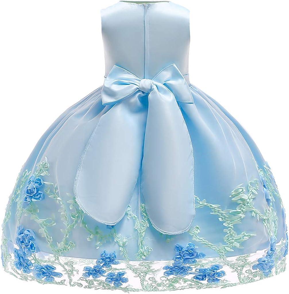 Minizone M/ädchen Kleid Baby /Ärmellos Prinzessinen Kleider S/äugling Partykleidung Kinder Formal Kost/üm