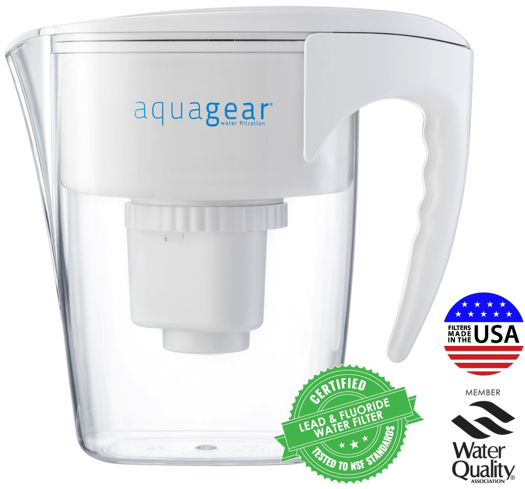 How To Filter Water Without A Filter Amazoncom Aquagear Water Filter Pitcher Fluoride Lead