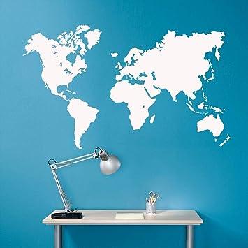 Mapa del mundo vinilo Etiqueta de La Pared Pegatinas de Pared ...