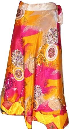 Dancers World Ltd Falda mágica hecha a mano de seda estilo indio ...
