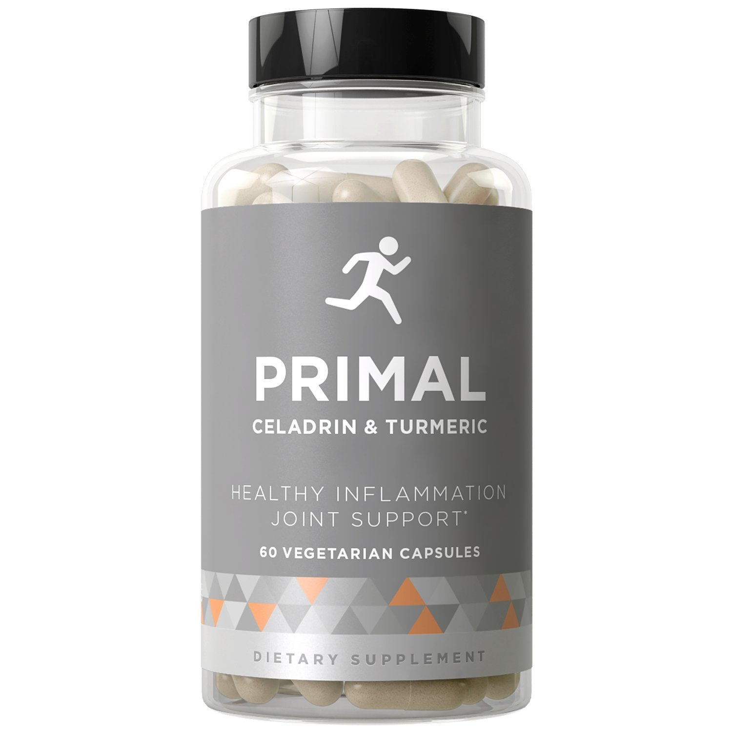 PRIMAL Joint Support & Healthy Inflammation - Fast-acting Potency, Strong Flexibility, Lasting Mobility, Inflammation Protection - Celadrin, Turmeric Curcumin, Boswellia - 60 Vegetarian Soft Capsules