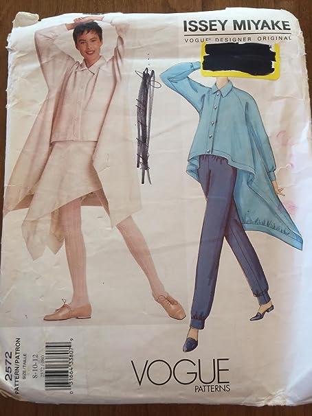Vogue Pattern 2556 Issey Miyake Vogue Designer Original Sizes 8-10 12 Bust 31 12-32 12-34 Factory Folded Dress or skirt