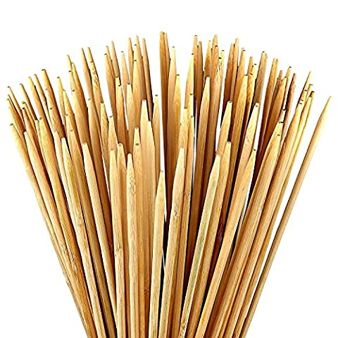 36 inch. Nature Bamboo Marshmallow Stick (110-pc) ,5mm Thick Extra Long ,Heavy Duty Wooden Skewers for BBQ & Campfire Roasting Hot Dogs & S'mores & Shish Kabob &Sausage - Eco Friendly Set