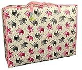 Extragrosse Aufbewahrungstasche 115 Liter. Rosa und grauen Kätzchen Muster. Spielzeug, Waschen und Wäschesack