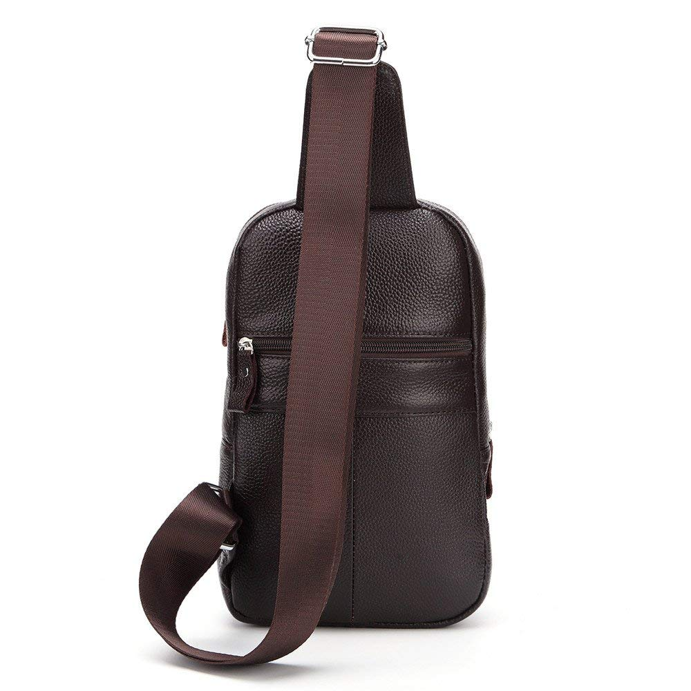 Climb Backpack Genuine Leather Chest Bag Shoulder Sling Backpack Unisex Outdoor Crossbody Sling Pack Sport Daypack Outdoor Leisure,Portable Comfortable,